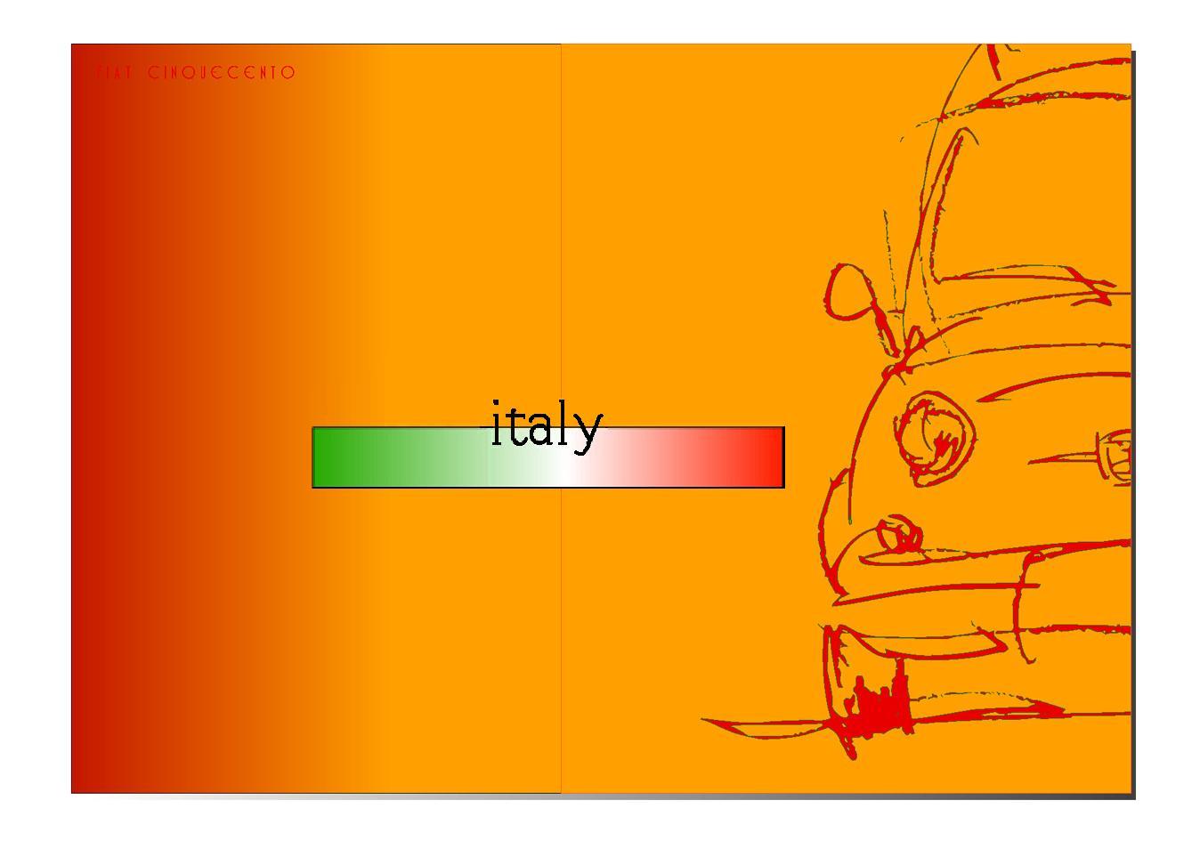 イタリア車 イラスト